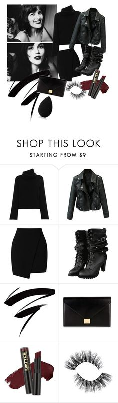 """""""Selfie Black"""" by heidibartholdy on Polyvore featuring Chloé, Victoria Beckham, L.A. Girl and beautyblender"""