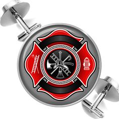 Cufflinks Fire Fighter Maltese Cross Firemen Symbol of Protection Groomsmen Wedding Party Fathers Dads Men. $39.95, via Etsy.