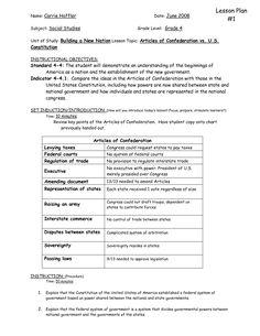 compare contrast articles confederation constitution essay