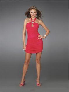Sheath Halter with Beadings Knee Length Chiffon Homecoming Dress HD1317 www.homecomingstore.com $110.0000