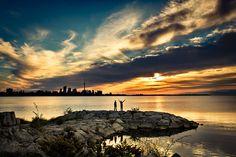 A Toronto sunset.