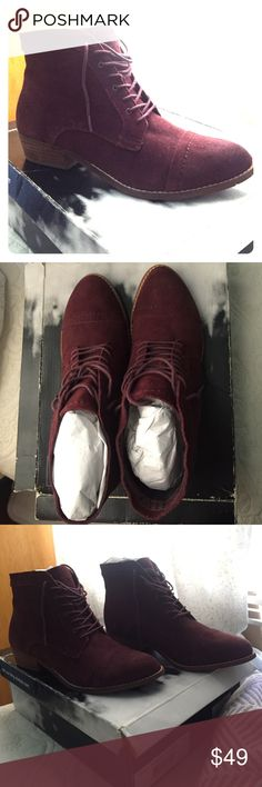 Dolce Vita Sylo Bordeaux Suede Burgundy Booties Soft leather suede bootie! Perfect for fall and winter!! Never worn before DV by Dolce Vita Shoes Ankle Boots & Booties