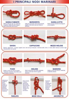 Poster I Principali Nodi Marinari 70x100 Cm Sailing Knots, Decorative Knots, Survival, Wire Tutorials, Bushcraft, Test Test, Projects, Poster, Avengers