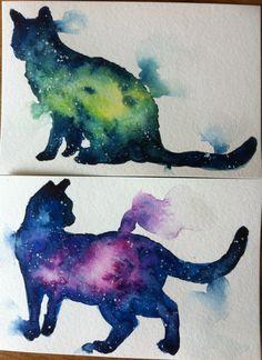 Galaxy cats - Mylene Carn