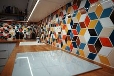 Kuchyňa Stupava - MMOSAICS Shapes, Retro, Kitchen, Cooking, Kitchens, Retro Illustration, Cuisine, Cucina