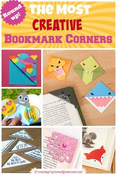 The Most Creative Bookmark Corners Roundups (with tutorials!) @homellifeabroad.com
