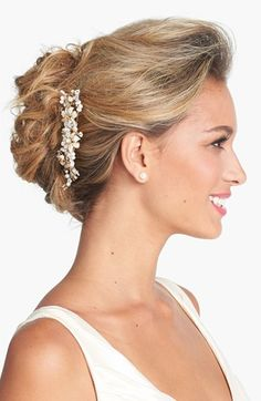 Untamed Petals by Amanda Judge 'Morgan' Comb available at #Nordstrom Wedding hair anna