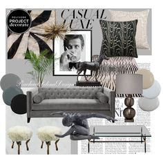 """""""Project Decorate: Casual Luxe Interior Ideas Board"""" by rachaelselina on Polyvore http://rachaelselina.tumblr.com"""