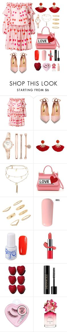"""Brunch Date"" by nans0717 ❤ liked on Polyvore featuring Alexander McQueen, Rupert Sanderson, Anne Klein, MANGO, Ettika, Dolce&Gabbana, Forever 21, Avon, Lancôme and Marc Jacobs"