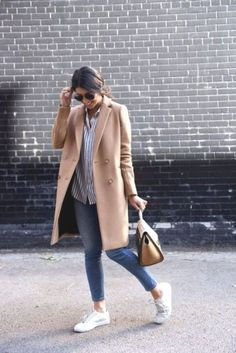 camel coat with adidas- Maxi coats with Adidas outfit ideas http://www