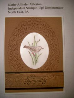 Kathy's Stamp Camp April 2014 - Card #3  SU Simply Sketched Hostess set