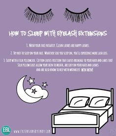 How to sleep with eyelash extensions.  www.Extensionsbylindy@gmail.com