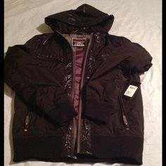 Guess Jacket open best offer Chintz trimmed nylon jacket Guess Jackets & Coats