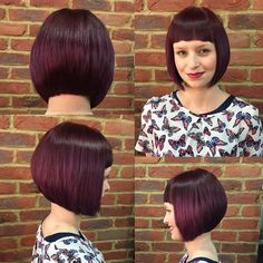 This amazing sharp graduated Bob in this amazing plum/purple short hair! I'm so in love with this... #purplehair #hairdressing #hairlife #hairlove #short #camdenhair #hairboutique #salonsin #creatingcool #redken #musthave #colour #must #visit #camdentown #rockpamperscissors #london #uk #2016 by michaelsalonsin