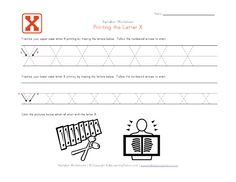 Tracing letter worksheets in landscape layout. We have one worksheet for each letter of the alphabet and they contain pictures to go with each letter. Each worksheet has uppercase and lowercase letters to trace. Letter Tracing Worksheets, Handwriting Worksheets, Tracing Letters, Uppercase And Lowercase Letters, Preschool Learning, Craft Activities For Kids, Printing Practice, Learning Stations, Lower Case Letters