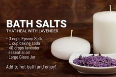 Bath salts that heal with lavender oil - just add water! Get Started With Essential Oils Here: mydoterra.com/oilybeauties