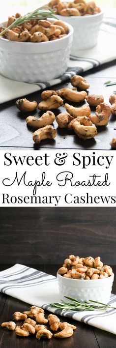 A contrast of spices, rosemary and sweet come together in this Vegan grab and go snack or appetizer.   Vanilla And Bean