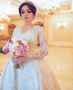Amazing Wedding Dress, Dream Wedding Dresses, Bridal Dresses, Wedding Looks, Bridal Looks, Wedding Bride, Afghan Wedding, Evening Dresses For Weddings, Bridal Hair And Makeup