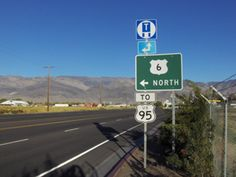 This is the westernmost U.S. Route 6 sign today. It's on the north edge of Bishop, California. The historic highway can take you from near here all the way to the Atlantic Ocean, and what a ride it is!