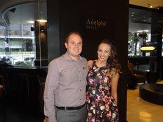 2012 XFactor Winner Samantha Jade with our Restaurant manager, Des Shanks