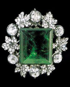"""The Romanov """"Snow Queen"""" emerald brooch"""