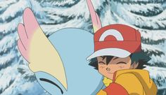 Ash and Pikachu with Amaura ^.^ ♡