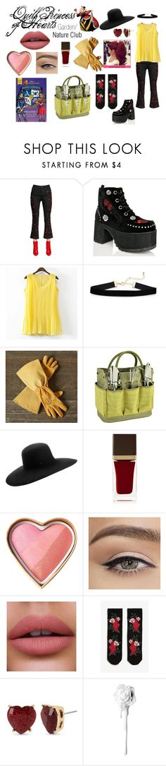 """""""Disney Descendants: Garden/ Nature Club: Quill: Princess of Hearts"""" by e-auradon on Polyvore featuring Amen, T.U.K., Williams-Sonoma, Picnic at Ascot, Maison Michel, Tom Ford, Monki and Betsey Johnson"""