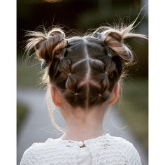 Charlie's hair today. Loved the spiky buns! I used @glopandglam vanilla cream to... | Iconosquare