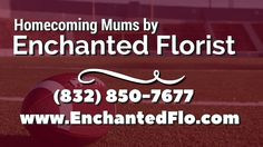Clear Creek High School Homecoming | Mums, Boutonnieres, Garters, Flower...