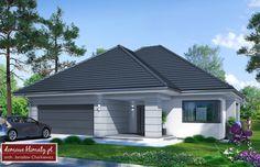 Projekt domu Lupo II , wizualizacja 1 House Layout Plans, House Layouts, House Plans, Modern Family House, Modern Bungalow, House Entrance, Ground Floor, Building A House, Shed