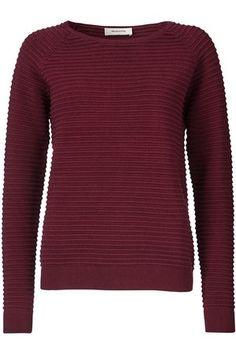 Leuke wijnrode trui van het merk Modstrom.