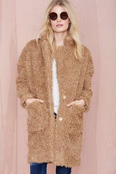 Fuzz Word Coat | Shop What's New at Nasty Gal