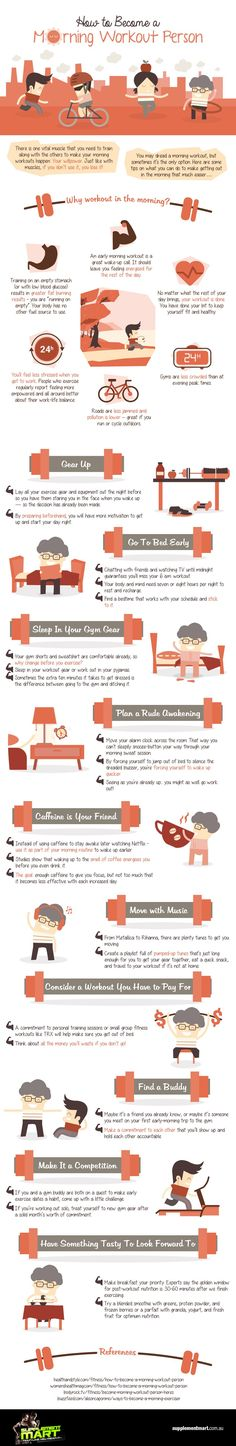 10 Awesome Reasons to Work Out in the Morning and How to Make it Happen - Infographic
