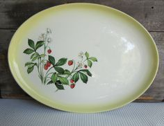 Vintage Strawberry Taylor Smith Taylor Oval Serving by corrnucopia, $18.00