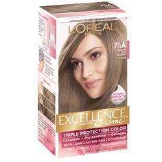 Excellence Creme Gray Coverage Haircolor by L'Oreal Paris. Permanent hair dye that revitalizes & protects hair while adding rich, radiant color for 100% gray coverage.