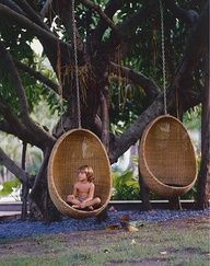 Amazing outdoor swing chairs...
