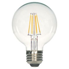 Clear G25 LED Globe Light Bulb - 4.5 Watts