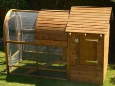 Giant Rabbit Hutch - Curved Garden Buildings - I like the bowed roof on this on, it add some interest.