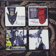 This item is unavailable Witchfinder General, Vincent Price, Drink Coasters, Coaster Set, Horror, Sci Fi, My Etsy Shop, Check, Art