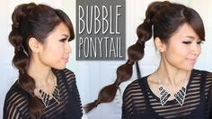 Bubble Ponytail Hairstyle | Medium to Long Hair Tutorial