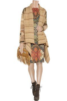 RALPH LAUREN BLACK LABEL  Hand-knitted cashmere-blend blanket coat