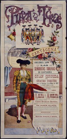 Las señoritas toreras en Cartagena. Plaza de toros de Cartagena, 1897