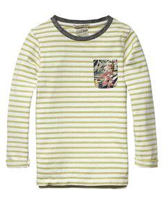 Gestreept jersey T-shirt - Scotch