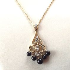 Excited to share the latest addition to my shop: Fleur Di Lis Diamond Necklace- Gold Diamond Charm- Diamond Necklace - Gold Diamond Pendant - Gold Necklace- Onyx Pendant - Xmas Modern Jewelry, Vintage Jewelry, 14k Gold Necklace, Diamond Necklaces, Real Gold Chains, Diamond Pendant, Charm Diamond, Jewels, Etsy Handmade