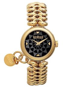 Versus by Versace Watch, Womens Optical Gold Ion-Plated Stainless Steel Bracelet 28mm 3C6870 0000 - Versus by Versace - Jewelry & Watches - Macys