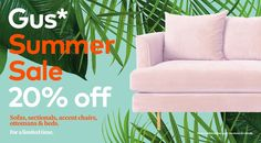 The Margot Sofa can make any room elegant and modern. For a limited time featured sofas, sectionals, accent chairs, ottoman & beds are off. Don't miss out on our Gus* Summer Sale! Ottoman Bed, Summer Sale, Sofas, Beds, Accent Chairs, Elegant, Modern, Room, Couches
