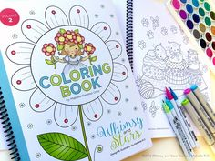 NEW Coloring Book Volume 2 its here! Features spiral binding and card stock paper pages, great for any art medium including markers, paints and pencils. Available at my Etsy store: http://www.etsy.com/shop/WhimsyAndStarsStudio  #coloring books  # coloring # adult coloring