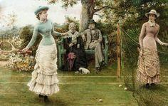 Kilburne, George Goodwin (b,1839)- Game of Tennis -2a