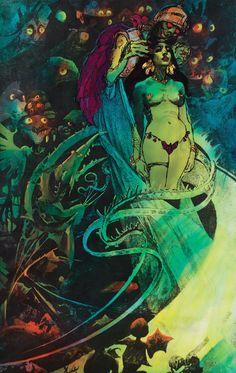 Presentation art for Ralph Bakshi's Wizards.
