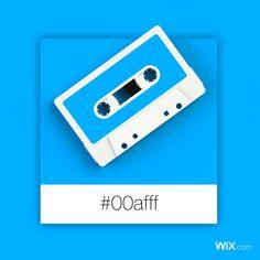 Color Palette Inspiration | Light Blue Audio Cassette #00afff